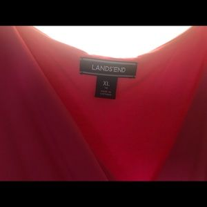 Lands end hot pink maxi dress.